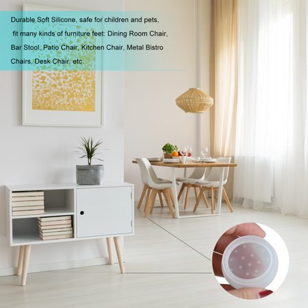 Table Chair Leg Caps Silicone Floor, Best Dining Room Chair Leg Pads