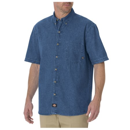 Dickies Mens Short Sleeve Denim Shirt