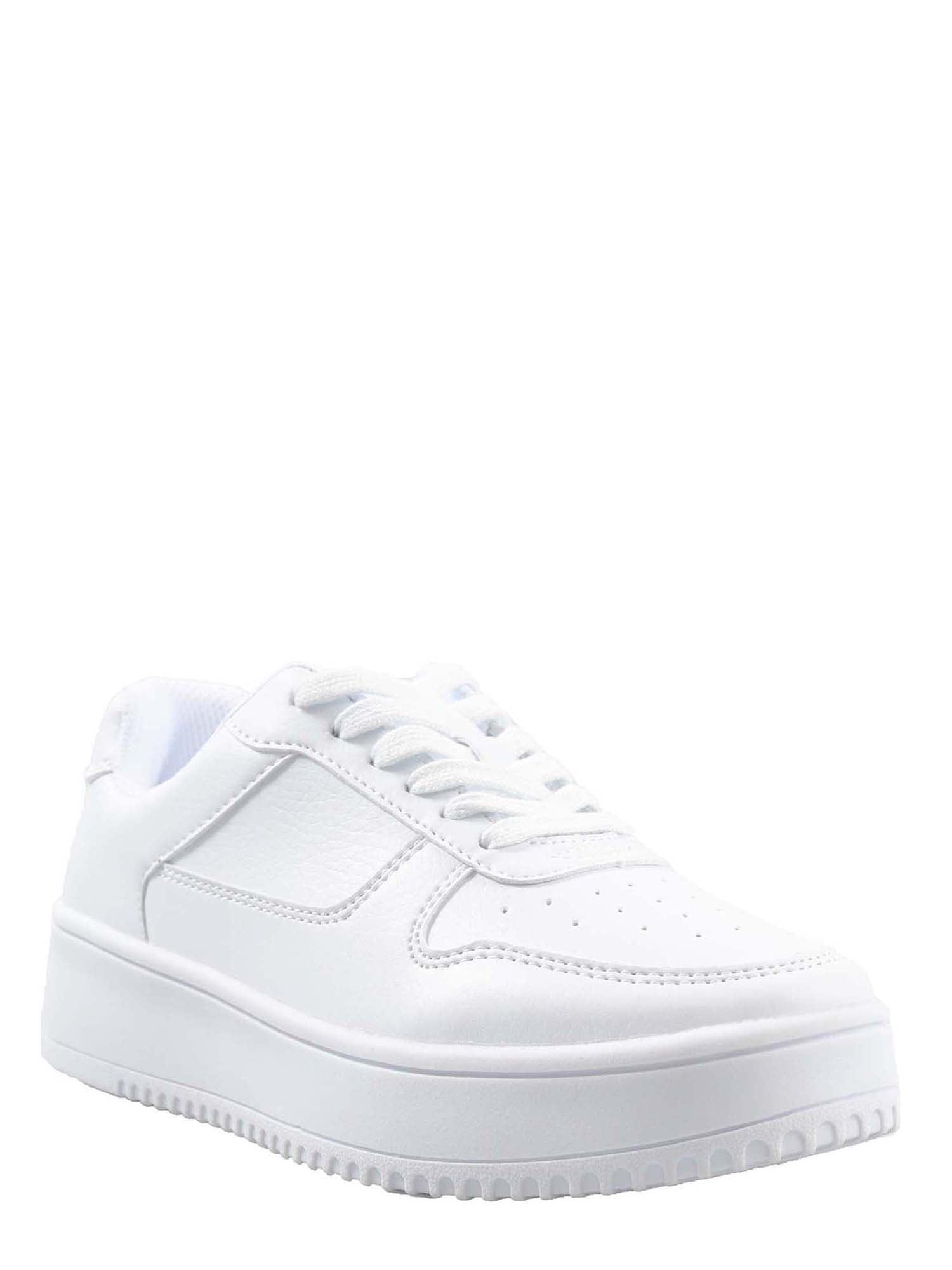white platform women's sneakers