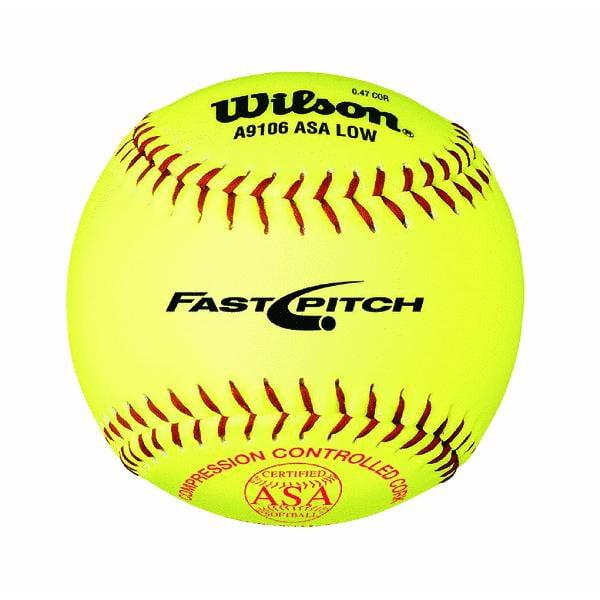 Wilson A9106 ASA Series Softball (12-Pack), 12-Inch, Optic Yellow WTA9106BASA-LOW