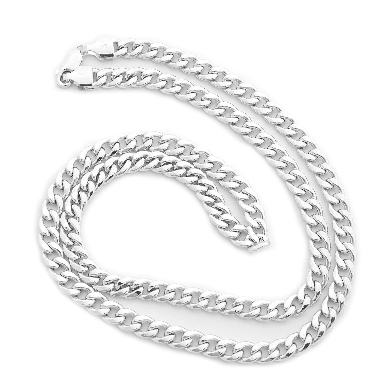 "Beauniq Men's Solid 14k Yellow or White Gold 4.5mm Heavy Miami Cuban Link Chain Necklace, 20"" 22"" 24"" by"