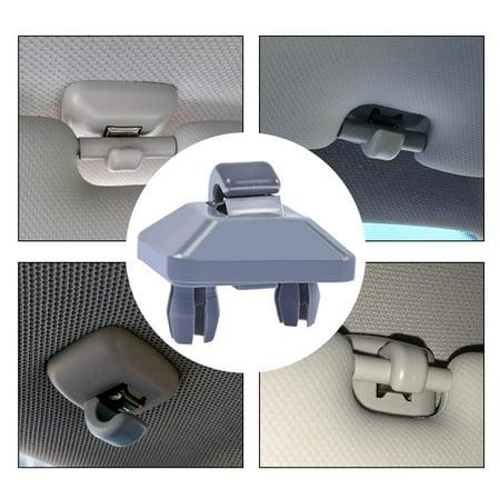 Peroptimist Grey Inner Sun Visor Clip for Audi A3 A4 A5 Q5 A7 B6 B7 B8 S4