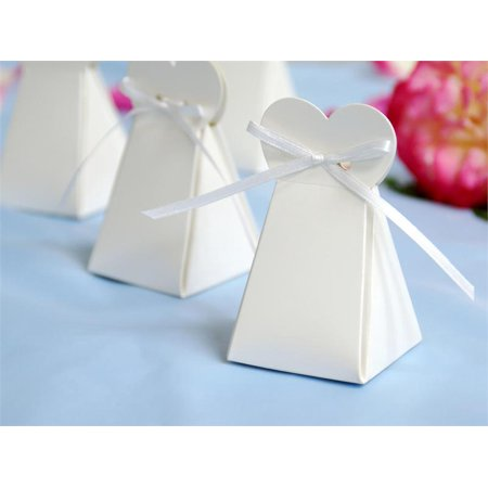 Wedding Gift Ideas At Walmart : ... Triangle Heart Wedding Party Favor Gift Boxes - White - Walmart.com