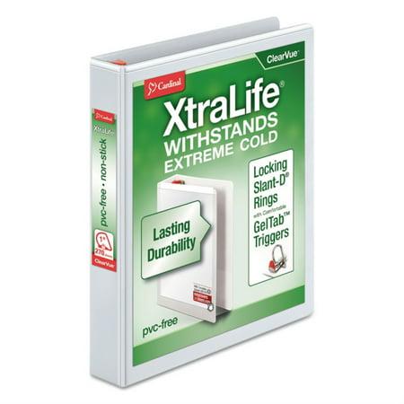 "Cardinal Xtralife Clearvue 1"" Slant-D 3-Ring Binder-White - image 2 of 2"