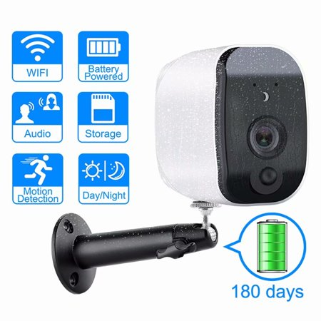 Akoyovwerve Indoor/Outdoor 1080P HD WiFi Wireless Smart Security Camera Two-Way Audio, IP Camera Home Security Camera System , Night Vison, Automatic IR Automatically