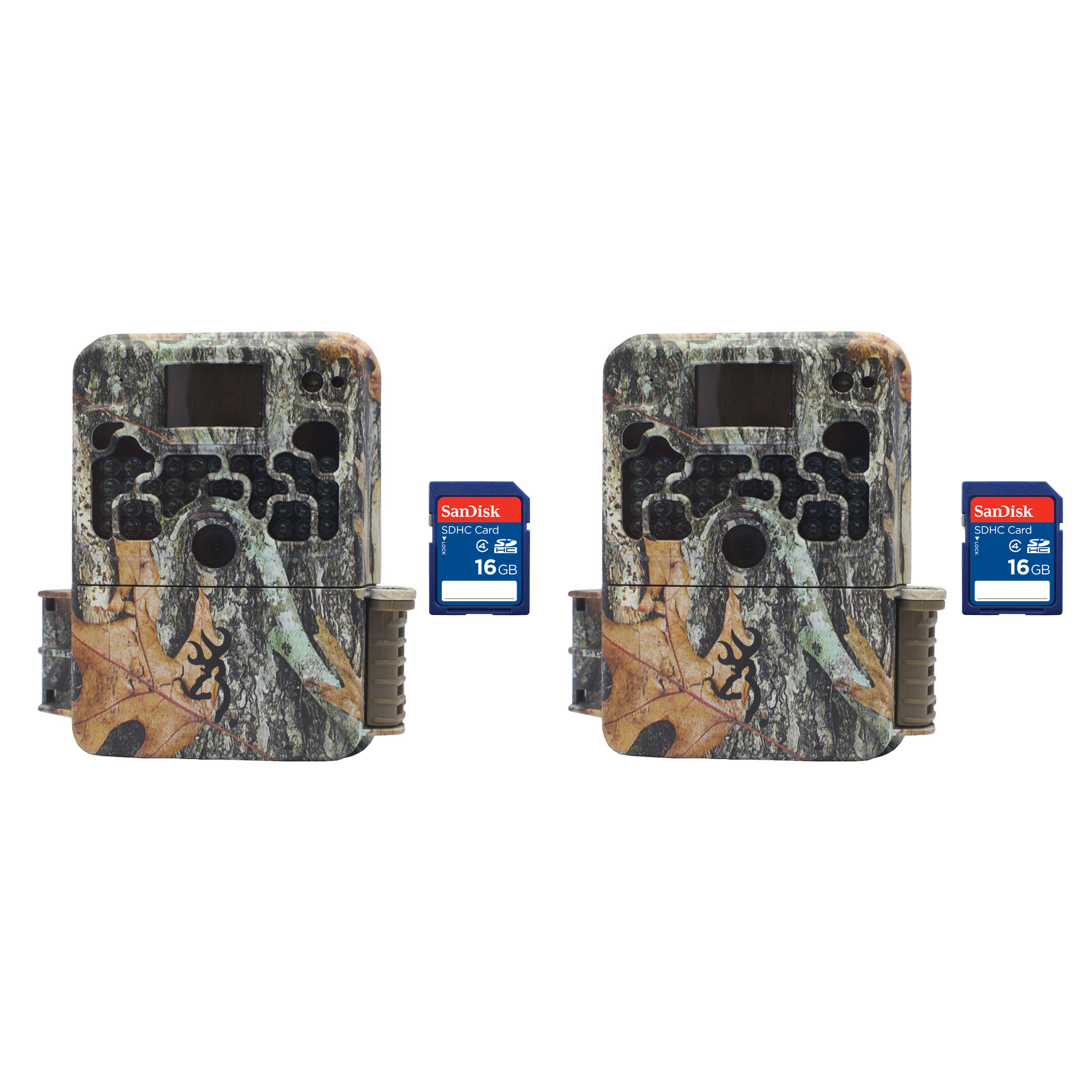 Browning Trail Cameras Strike Force Elite HD 10MP Game Camera, 2 Pack + SD Cards by Browning Trail Cameras