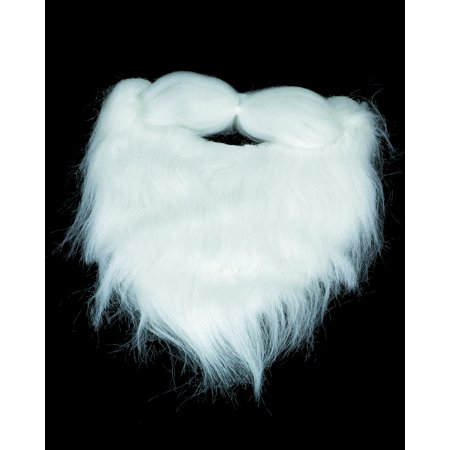 Adults Mens White Beard Facial Hair Costume (Halloween Facial Hair)