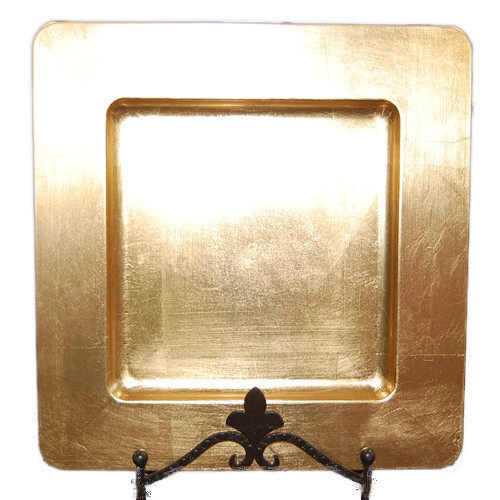 ESSENTIAL D COR & BEYOND, INC Square Charger Plate with Indented Rim