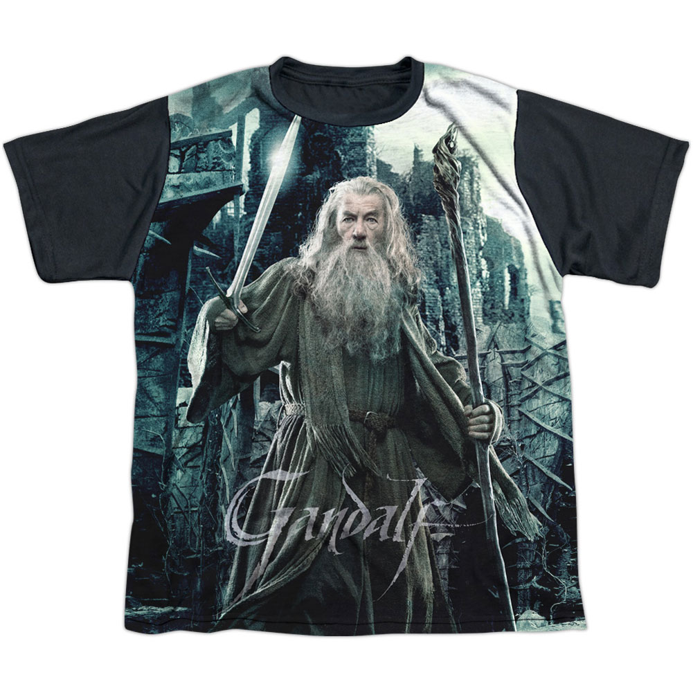 Hobbit Men's  Wizard Sublimation T-shirt White