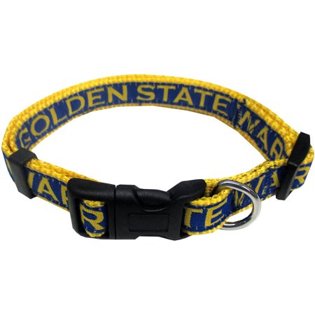 Pets First Nba Golden State Warriors Pet Collar  3 Sizes Available  Sports Fan Dog Collar