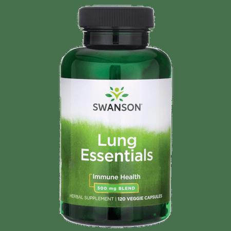 Swanson Lung Essentials 500 mg 120 Veg Caps