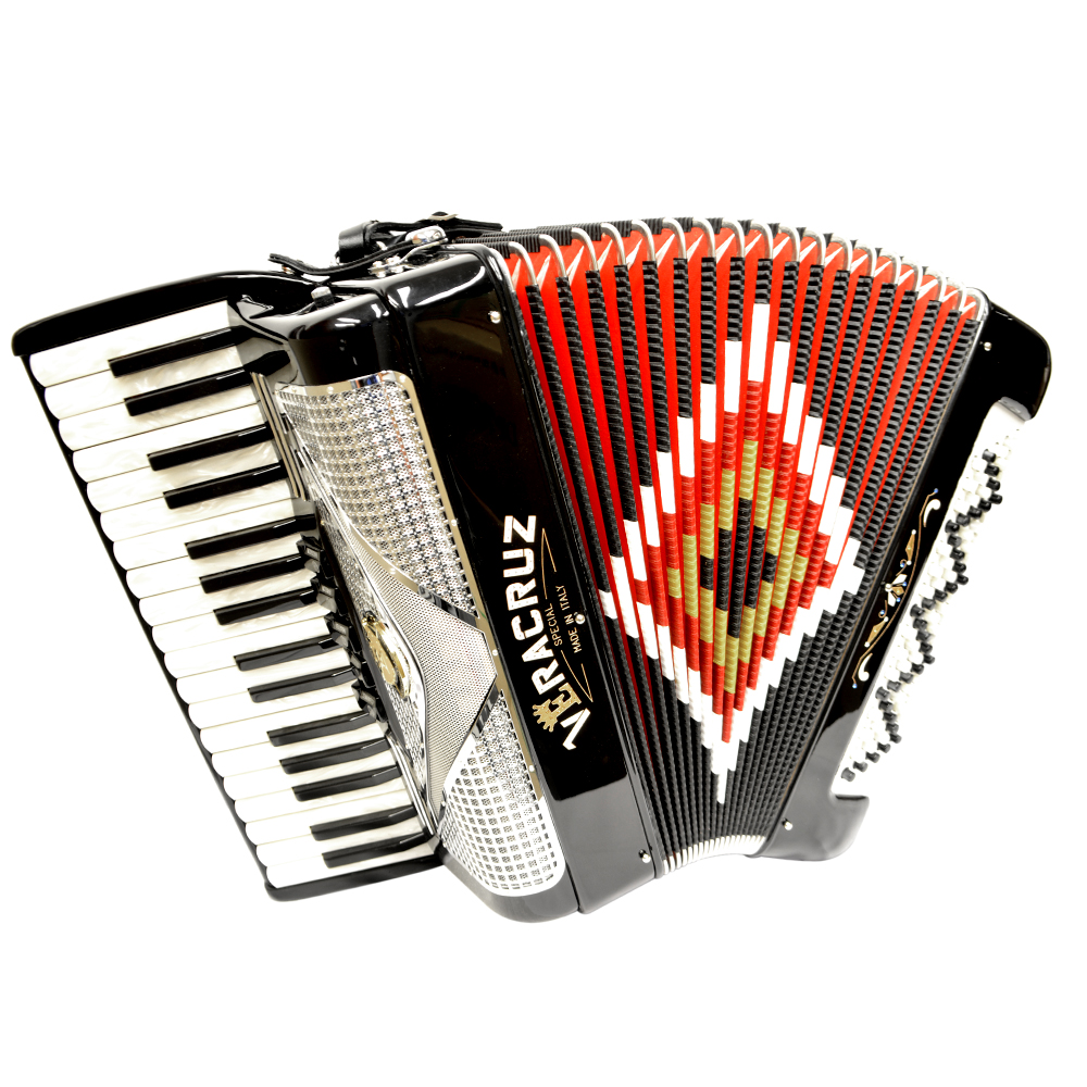 Excalibur Veracruz 80 Bass Piano Accordion Black & Chrome by