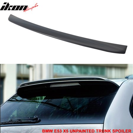 Fits 00-06 BMW E53 X5 SUV EURO Style Rear Roof Spoiler Wing Unpainted - Bmw X5 Roof