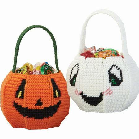Herrschners® Trick or Treat Baskets Plastic Canvas Kit - Trick Or Treat Baskets