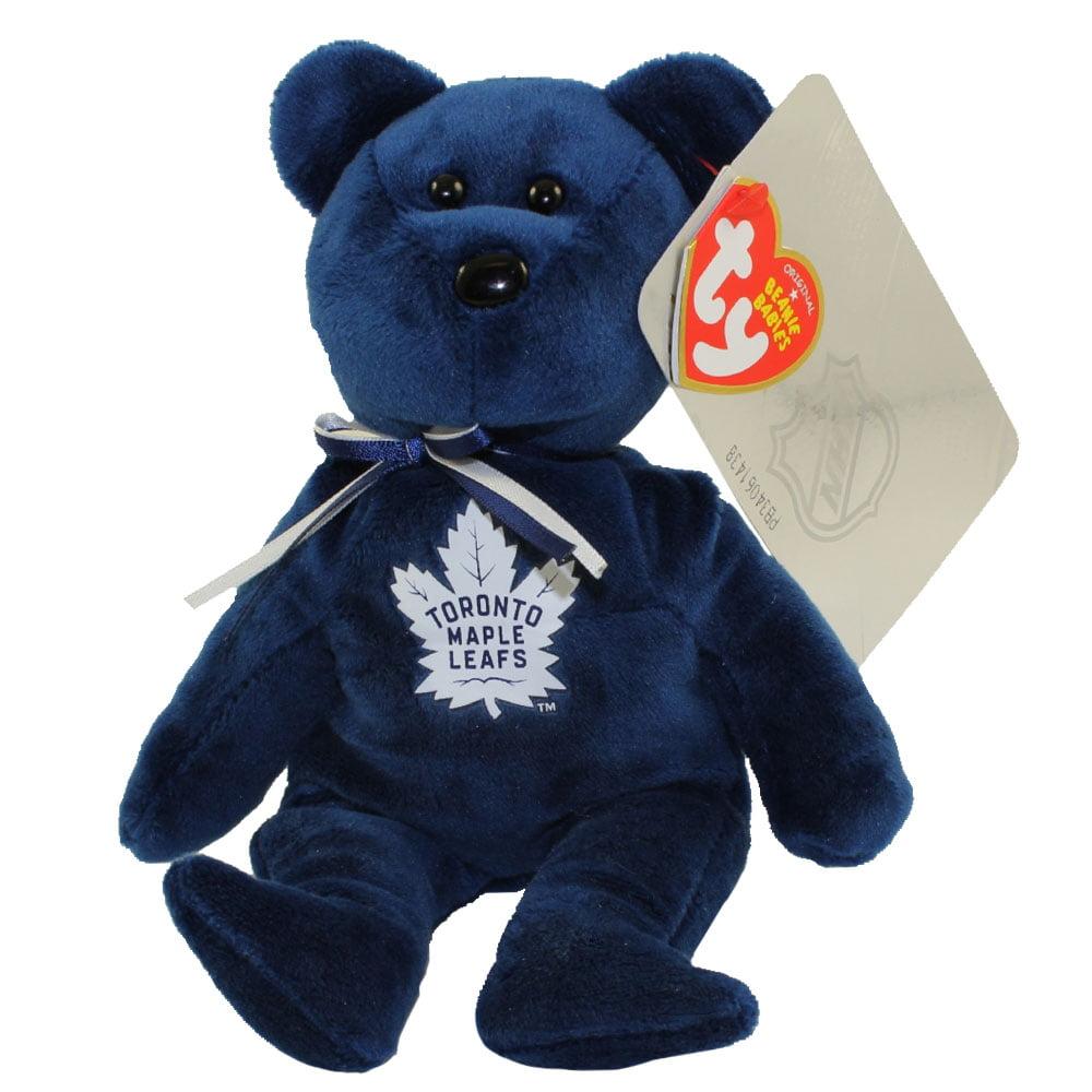 TY Beanie Baby NHL Hockey Bear TORONTO MAPLE LEAFS (8 inch) by TY
