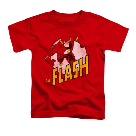 DC Comics Boys' The Flash Childrens T-shirt Red - Childrens Online Clothes