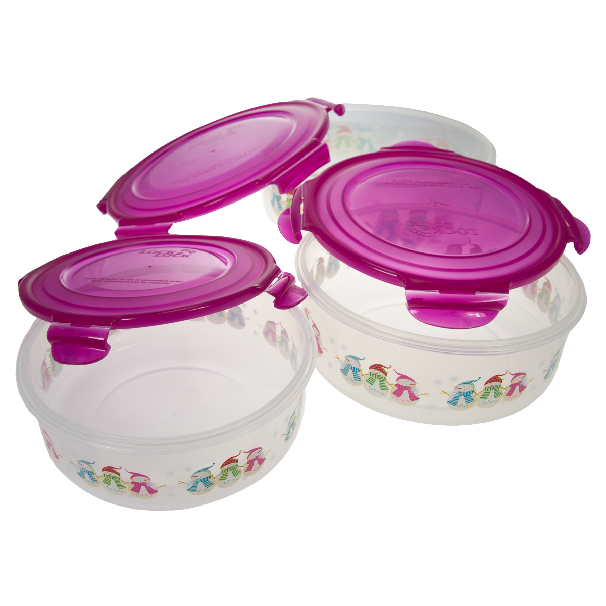 6pc Lock u0026 Lock Christmas Plastic Food Storage Containers Set Locking With Snap Lids Airtight BPA Free - Walmart.com  sc 1 st  Walmart & 6pc Lock u0026 Lock Christmas Plastic Food Storage Containers Set ...