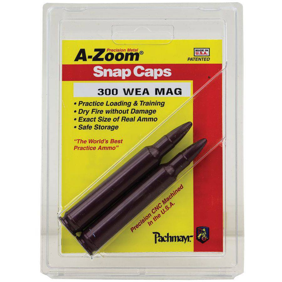 A-Zoom 12284 Snap Caps Rifle 300 Weatherby Magnum Aluminum, 2-Pack