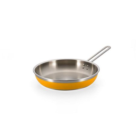 Bon Chef 60309YELLOW 11.75 x 2.37 in.Classic Country French Collection Saute 3 quart Pan & Skillet Long Handle No Cover, Yellow - 4 oz Covered Oval Saute Pan