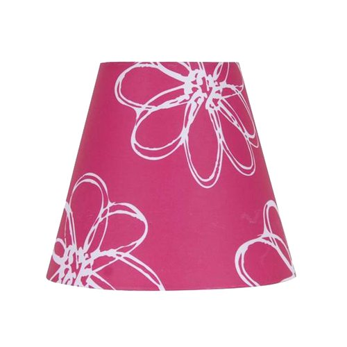 "Mainstays 7"" Pink Floral Accent Shade"