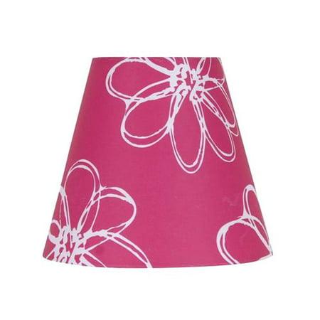 Pink Toile Lamp Shade (Mainstays 7