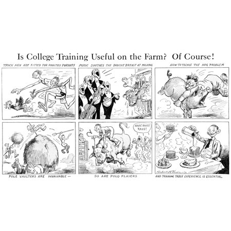 Comic strip in Country Gentleman agricultural magazine from the early 20th century Canvas Art - Remsberg Inc Design Pics (20 x 11)