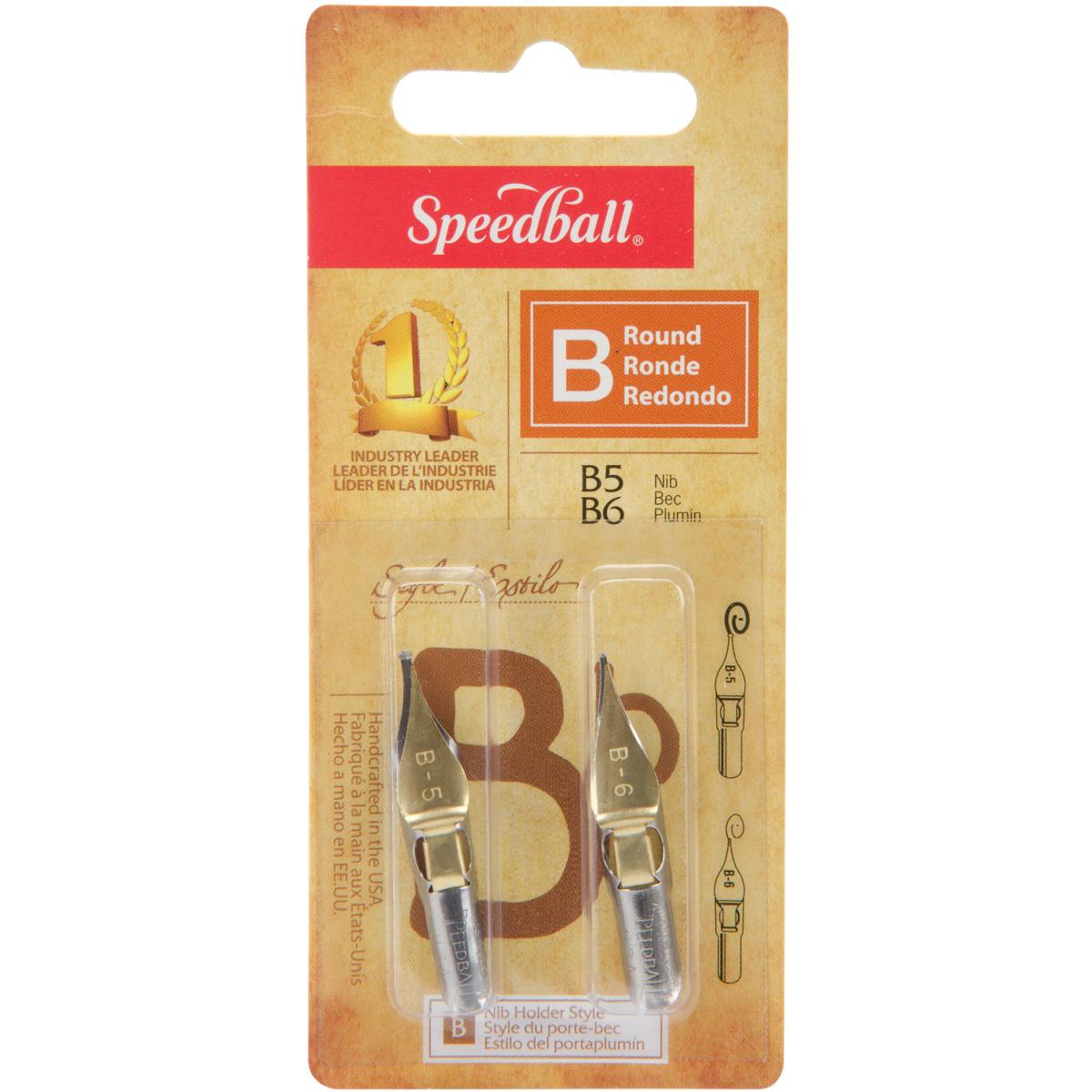 Speedball Calligraphy Pen Nibs 2/Pkg-B5 & B6 - image 1 de 1