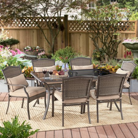 Home Garden Patio - Better Homes & Gardens Providence 7-Piece Outdoor Patio Wicker Dining Set