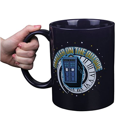Doctor Who GIANT Ceramic Coffee Mug, Large 64 oz - Collectible TARDIS Smaller On The Outside Design - HUGE!