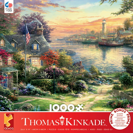 Ceaco - Thomas Kinkade - New England Harbor - 1000 Piece Jigsaw Puzzle ()