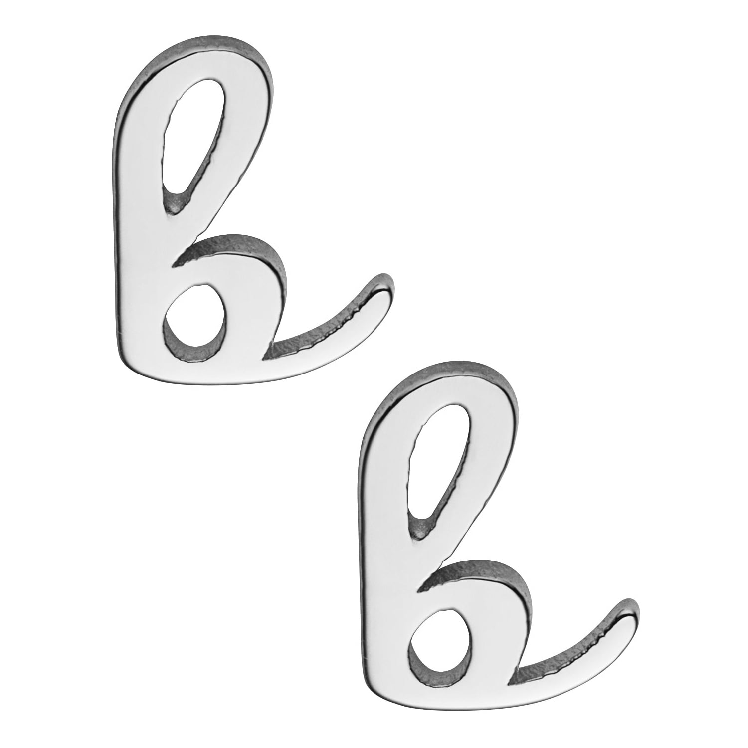 Monogram Necklace Personalized 35mm Sterling Silver or Gold Plated Silver Large