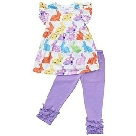 Unique Baby Girls Funky Easter Bunny Easter Outfit (2T/XS, Purple) - Easter Bunny Baby Outfit