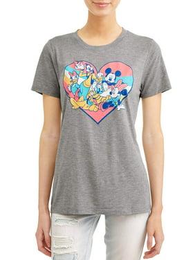 dfa2614c6719f Product Image Junior s Mickey   Friends Heart Graphic Heather ...