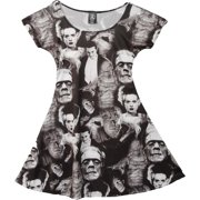 Universal Monsters Women's Collage Skater Dress Dress X-Small Black