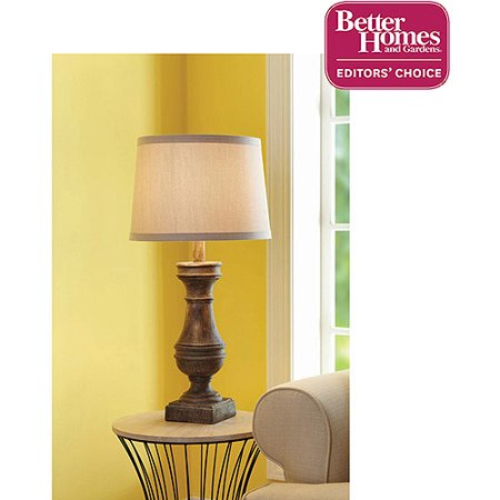 Better homes and gardens rustic table lamp base distressed wood