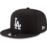 Los Angeles Dodgers New Era Black & White 9FIFTY Snapback Hat - Black - OSFA