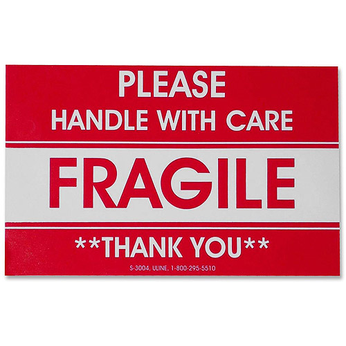 Tatco Fragile/Handle With Care Shipping Label - Walmart.Com