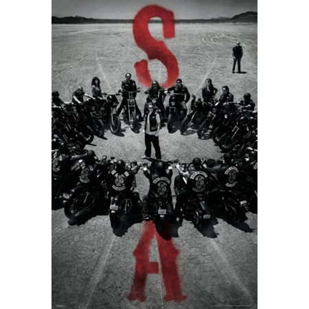 Sons of Anarchy SOA Bike Circle Motorcycle Crew FX TV Series Poster - 27x39 (Music From The Bridge Tv Series Fx)
