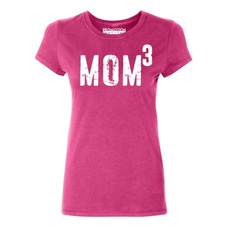 P&B Mom of 3, Mom Cubed Women's T-shirt, Cyber Pink, (Best Cyber Monday Clothing Deals 2019)