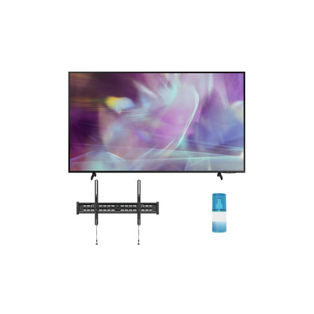 """Samsung QN60Q60AA 60"""" QLED Q60 Series 4K Smart TV Titan Gray with a Walts TV Large/Extra Large Tilt Mount for 43""""-90"""" Compatible TV's and Walts HDTV Screen Cleaner Kit (2021)"""