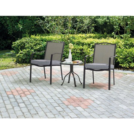 Mainstays Oakmont Meadows 3-Piece Outdoor Bistro (Bistro Set Three Piece Bronze)