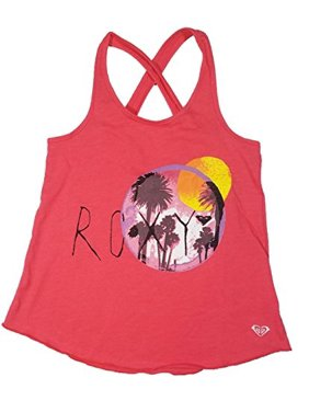 2ebac01be9 Product Image roxy girls beach scene crossed strap tank top tee (14/16,  coral)