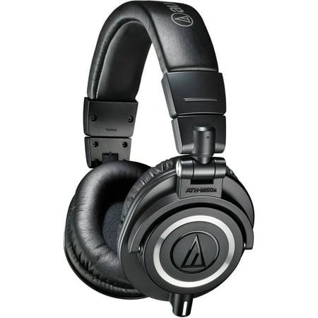 Audio Technica Closed Back Headphones (Audio-Technica ATH M50x Professional Monitor Headphones, Available in Multiple Colors )