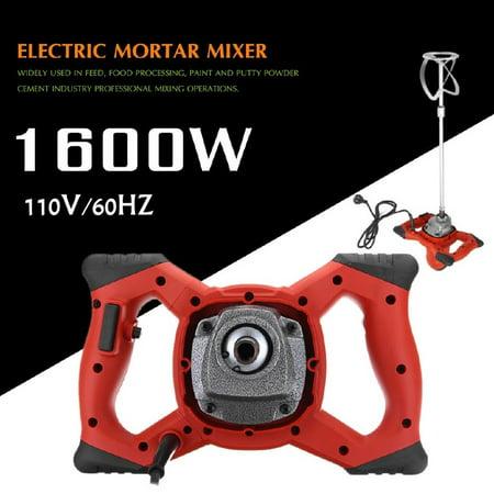 1600W Mortar Mixer Hand-Held Mixer Stirring Tool Electric Cement Mortar