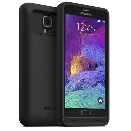 4500 Mah Extended Battery (PowerBear Note 4 Battery Case [4500 mAh] High Capacity External Battery Charger for Samsung Galaxy Note 4 (Up to 140% Extra Batt )
