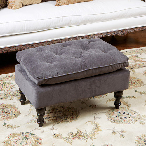 Home Loft Concepts Cameron Tufted Ottoman