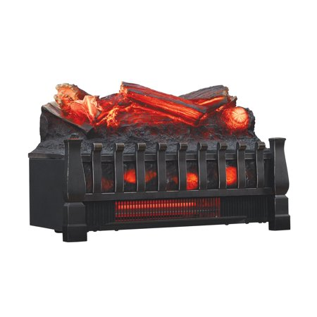 Stupendous Infrared Quartz Log Set Heater With Realistic Ember Bed And Logs Black Best Image Libraries Sapebelowcountryjoecom