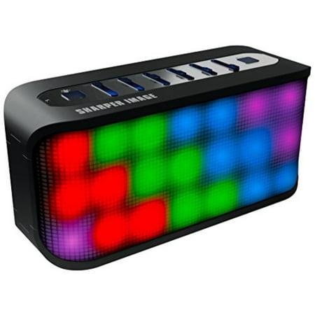 Sharper Image Sbt609xbk Bluetooth Speaker With Led Lights Portile