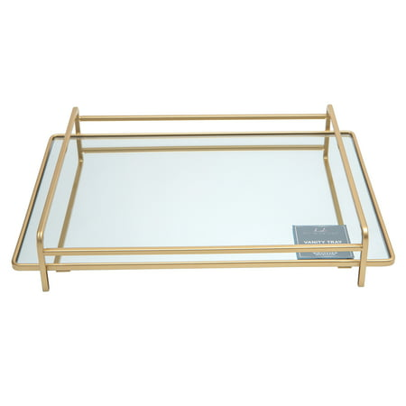 Home Details 4 Rail Vanity Mirror Tray