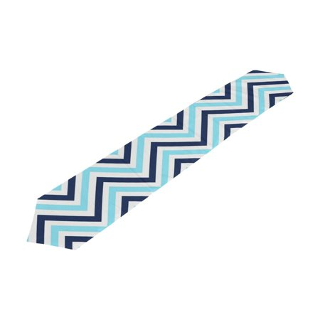 POPCreation Navy Chevron Table Runner Table Top Decoration Home Decor 13x90 inches (Navy Table Runner)